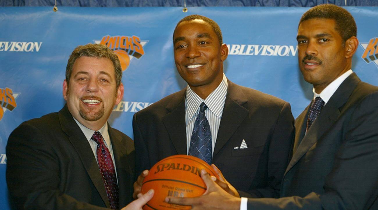 ג'יימס דולן, הבעלים של ניו יורק ניקס עם איזיאה תומאס, מנהל הקבוצה בין השנים 2003 ל-2007
